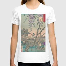 a Bridge and a House. Ukiyoe Landscape T-shirt