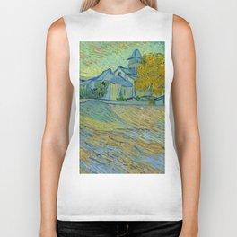 """Vincent van Gogh """"Vue de l'asile et de la Chapelle de Saint-Rémy"""" Biker Tank"""