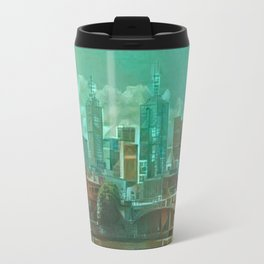 Melbourne Waterfront Abstract Travel Mug