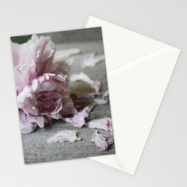 Peony Falling Stationery Cards
