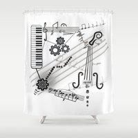 cello Shower Curtains featuring Musical Masterpiece by Imagology