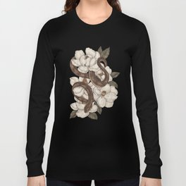 Snake and Magnolias Long Sleeve T-shirt