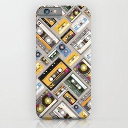 Retro cassette tape pattern 4 iPhone Case