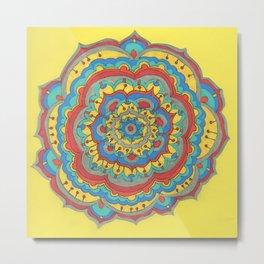 Bold Mandala Metal Print