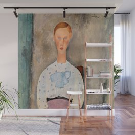 """Amedeo Modigliani """"Girl with a Polka-Dot Blouse (Jeune fille au corsage à pois)"""" Wall Mural"""