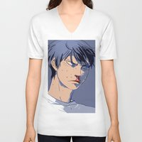 haikyuu V-neck T-shirts featuring curly frie 2.2 by Greyson J
