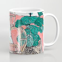 Cane Chair in Pink Interior Coffee Mug