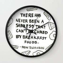 Breakfast foods Wall Clock