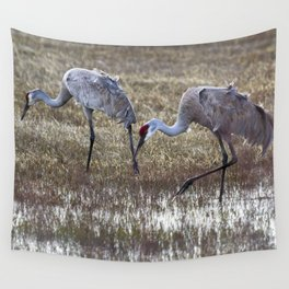 Working in Pairs Wall Tapestry