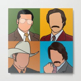 Anchorman Pop Art Metal Print