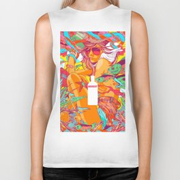 ABSTRACT GIRL-Colorful Biker Tank