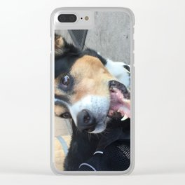Wallace Yawning Clear iPhone Case