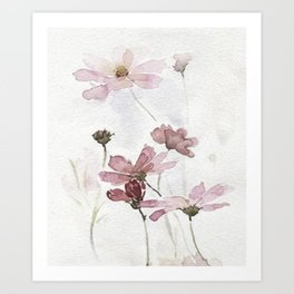FLOWERS PAINTING-VINTAGE Art Print