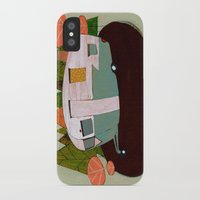 camping iPhone & iPod Cases featuring Camping by Arrolynn