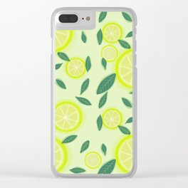 Lemony thicket Clear iPhone Case