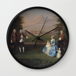 Arthur Devis - Robert Gwillym of Atherton and His Family (1747) Wall Clock