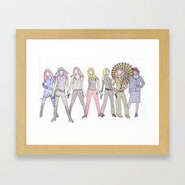 Strong Women Characters Framed Art Print