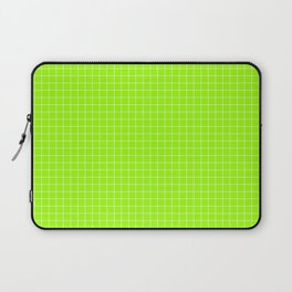 Green Grid White Line Laptop Sleeve
