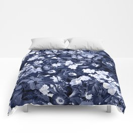 Bohemian Floral Nights in Navy Comforters