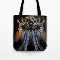 transformer Tote Bags featuring Transformer by Brian Raggatt