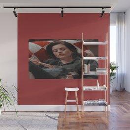 Monica Geller red wallpaper Wall Mural