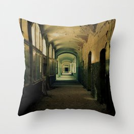 abandoned building Throw Pillow