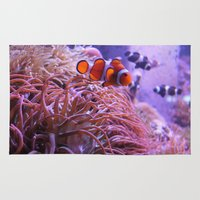 finding nemo Area & Throw Rugs featuring Nemo by Joanna Dickinson