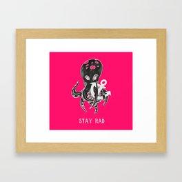 Stay Rad Framed Art Print
