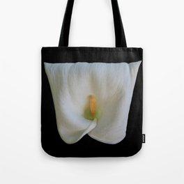 Square Shaped Calla Lily Tote Bag