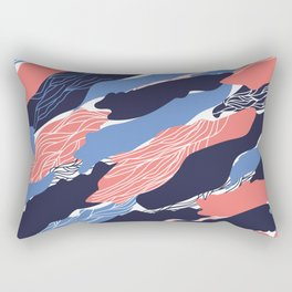 Coral Abstract Rectangular Pillow