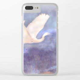 White bird Clear iPhone Case