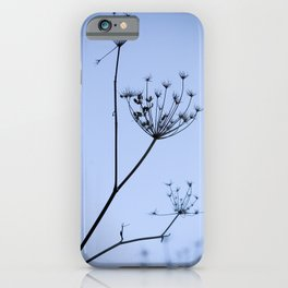 Silhouette on blue iPhone Case
