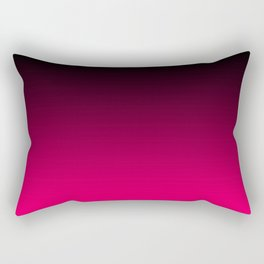 Modern Black and Bright Pink Ombre Rectangular Pillow