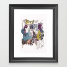 dirty tribune III Framed Art Print