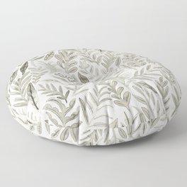 Grey Botanical Floor Pillow