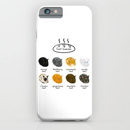 Cat Loaf Flavors iPhone Case