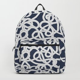 Nautical Rope Knots in Navy Backpack