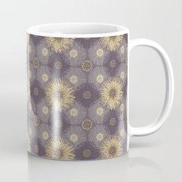 Yellow Sunflower Medley on Purple Coffee Mug