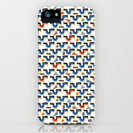 Memphis Style Geometric Abstract Seamless Vector Pattern iPhone Case