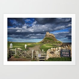 Walking to Lindisfarne Art Print