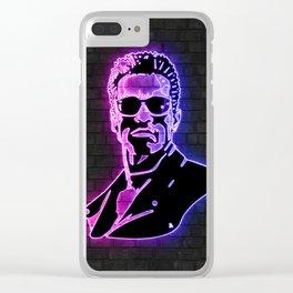 Terminator neon art Clear iPhone Case