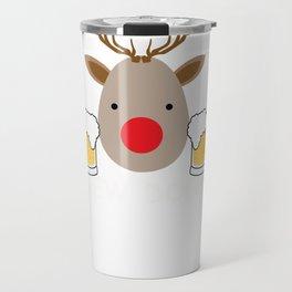 Brew Dolph Reindeer Beer Drinker Christmas print Travel Mug