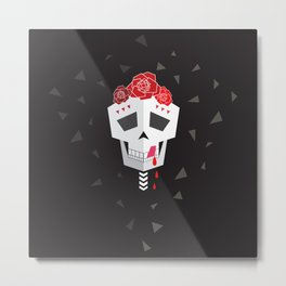 Salsa Skull Metal Print