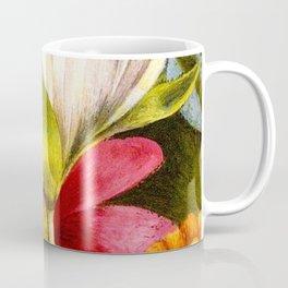 'Moi et Mes Parroquets' floral portrait painting by Frida Khalo Coffee Mug