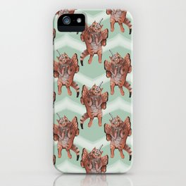 cat unicorn chevron mint iPhone Case