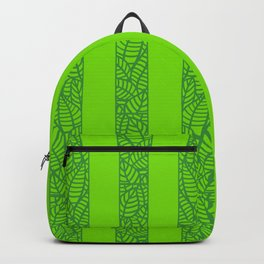 Green Stripes with Leaves Backpack