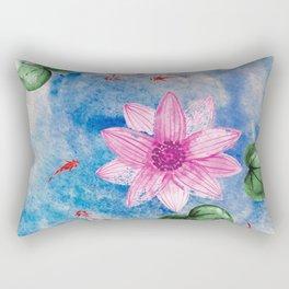 Lotus Pond Rectangular Pillow