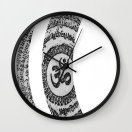 Om Nama Shivaya Wall Clock