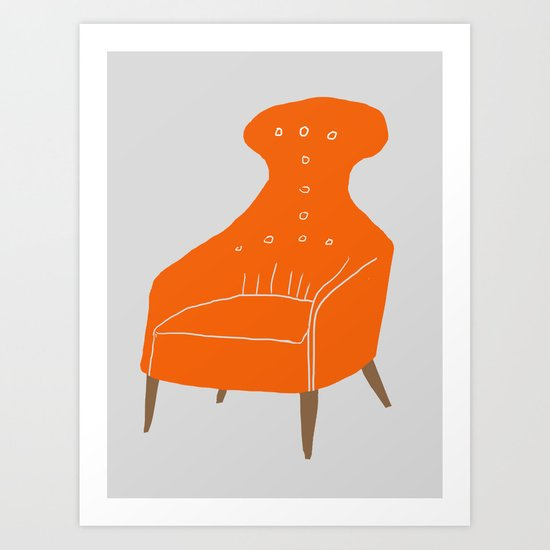 Orange Chair Art Print