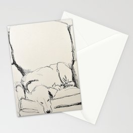 Elwood in a chair Stationery Cards